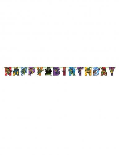 Teini-ikäiset mutanttininjakilpikonnat™ -Happy Birthday-köynnös 200 x 15 cm-1