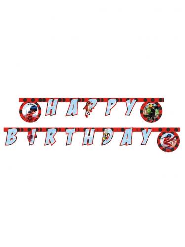 Miraculous Ladybug™- Happy Birthday - köynnös 2 m