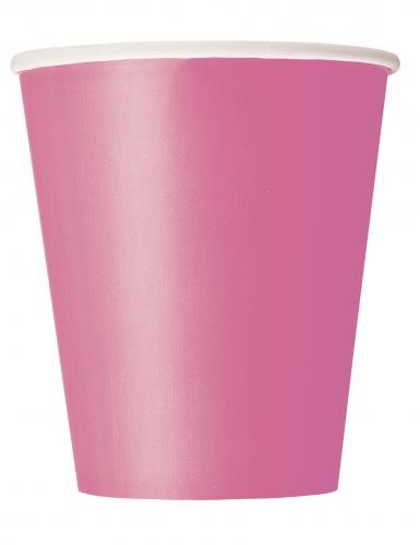 Vaaleanpunaiset pahvimukit 266 ml 8 kpl