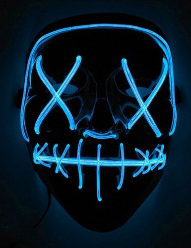 Sininen LED-naamari aikuiselle