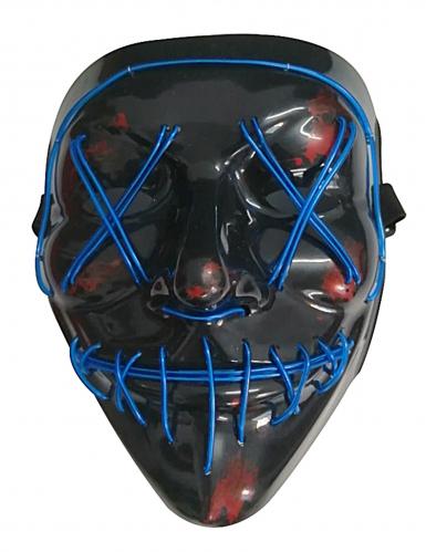 Sininen LED-naamari aikuiselle-1