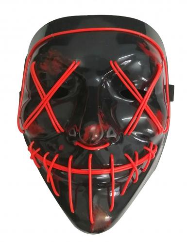 Punainen LED-naamari aikuiselle-1