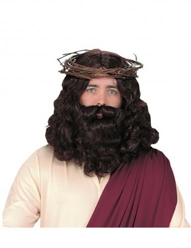 Jeesuksen peruukki ja parta aikuiselle