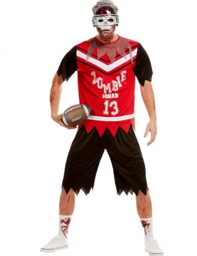 Amerikkalaisen jalkallon pelaajan zombiasu miehelle