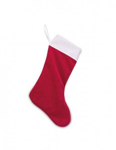 Joulupukin punavalkoinen sukka 29 x 48 cm