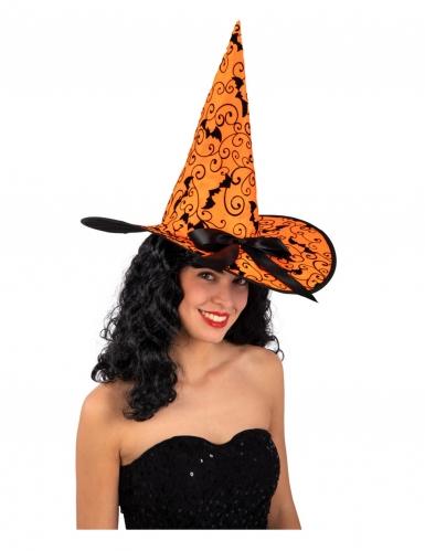 Lepakkonoidan oranssi hattu aikuiselle 36 cm