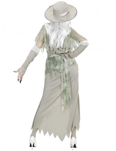 Valkoisen kummitusnaisen naamiaisasu naiselle-3