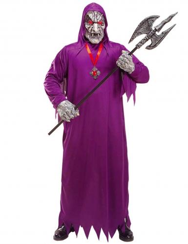 Violetti kuoleman zombien naamiaisasu aikuiselle