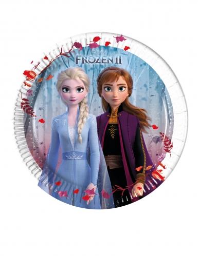 Kahdeksan pientä Frozen 2™- pahvilautasta 20 cm 8 kpl