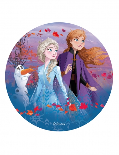 Frozen 2™ Anna, Elsa ja Olaf- kakkukuva 20 cm