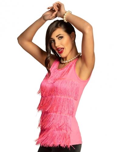 Vaaleanpunainen hapsutoppi naiselle
