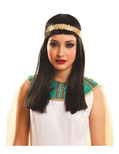 Pitkä egyptiläisen peruukki aikuiselle