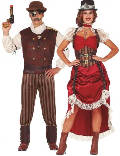 Punainen steampunk-pariasu aikuisille