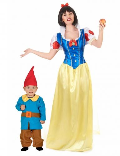 Prinsessa ja kääpiö- naamiaisasut äidille ja pojalle