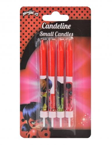 Ladybug™- punaiset synttärikynttilät 4 kpl 9 cm