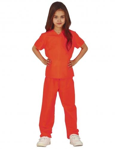 Vangin oranssi naamiaisasu tytölle
