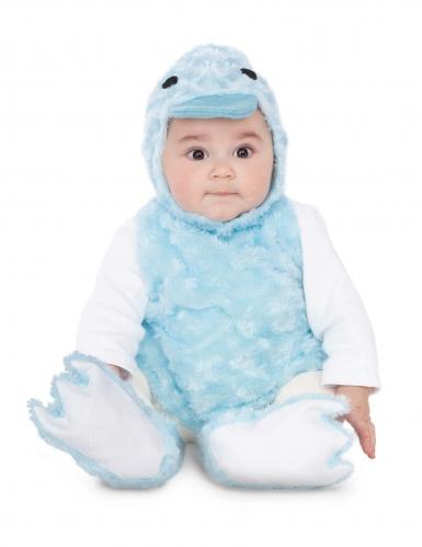 Pieni sininen ankka-asu vauvalle