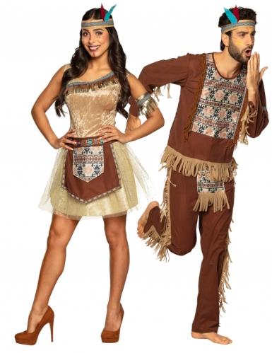 Ruskeat intiaaniasut- pariasut aikuisille