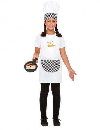 Valkoinen kokkiasu lapselle-1