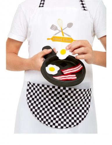 Valkoinen kokkiasu lapselle-2