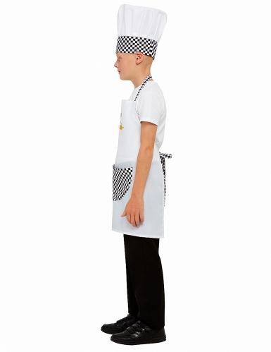 Valkoinen kokkiasu lapselle-3