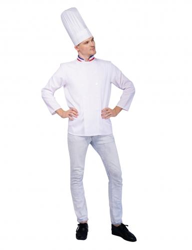 Ranskalainen kokki-naamiaisasu aikuiselle