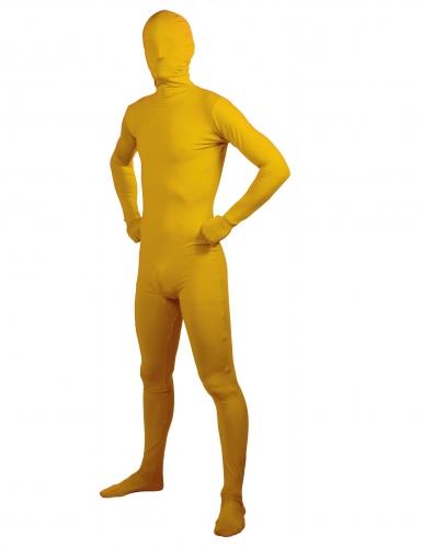 Keltainen second skin-haalari aikuiselle
