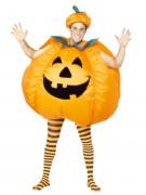 Aikuisten puhallettava Halloween kurpitsa-asu