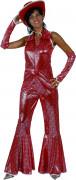 Punainen discoasu naiselle