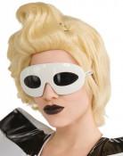 Lady Gaga™ valkoiset lasit