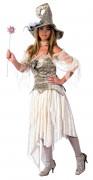 Keskiaikainen haltijatar, ylellinen Halloween-asu naisille