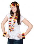 Havaijilainen asustesetti Saksan lipun väreissä