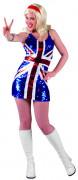 Naisen mekko unionilipun väreissä