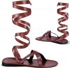 Ruskeat roomalaiset sandaalit aikuisille