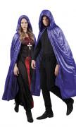 Violetti samettimainen viitta aikuisille 170 cm - Halloween