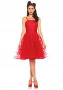 50-luvun punainen mekko aikuiselle