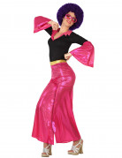 Naisen vaaleanpunainen discoasu