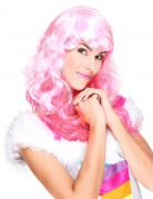 Aikuisten vaaleanpunainen peruukki