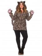 Suurikokoinen leopardipuku naisille