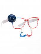 Amerikkalaiset silmälasit viiksillä