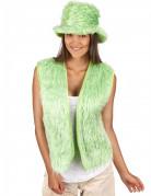 Vihreä tekoturkisliivi