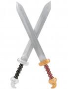 Muovinen gladiaattorin rekvisiittasetti lapsille - sis. kaksi miekkaa