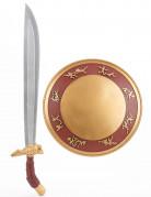 Muovinen gladiaattorin asesetti lapsille - sis. suojakilven ja miekan
