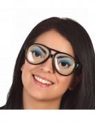 Aikuisten lasit kauniilla silmillä koristelluilla linsseillä
