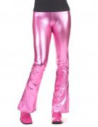 Naisen fuksianpunaiset discohousut