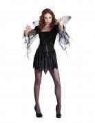 Musta enkeli Halloween-asu naisille