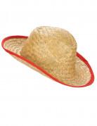 Aikuisten cowboy-hattu punaisella reunuksella