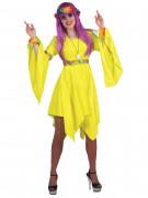 Naisten keltainen hippiasu
