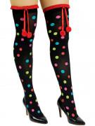Mustat pitkät pilkulliset sukat aikuisille