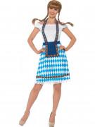 Sinivalkoinen baijerilaisnaisen puku